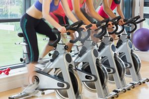 exercise - people using stationary bike