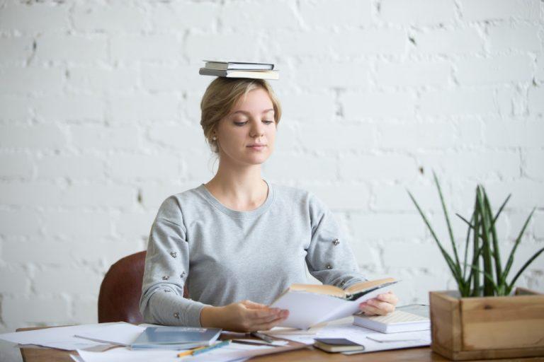 woman practicing good posture