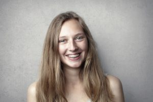 young lady with braces