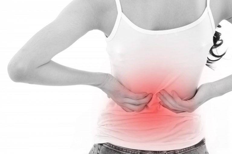 chronic back pain concept