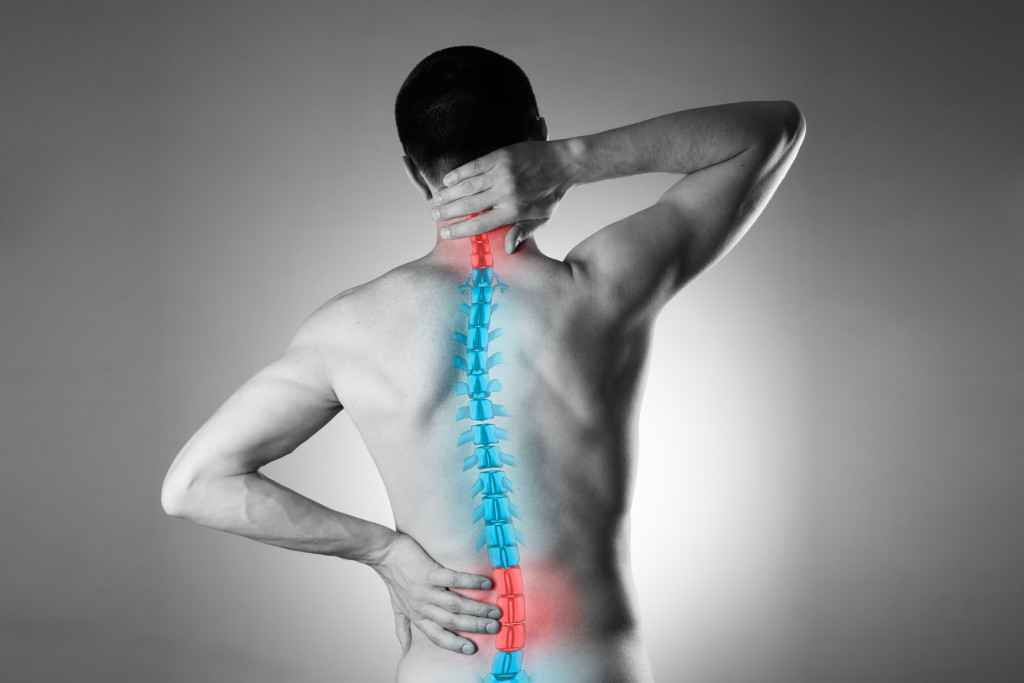 man with spine problems